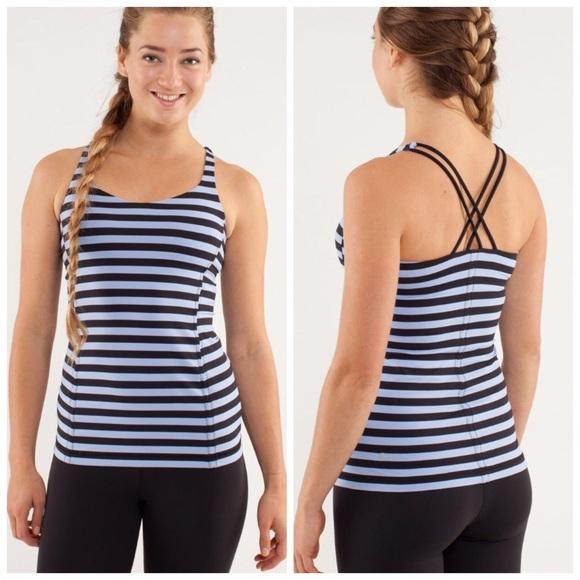 0c7ddefdd6 lululemon athletica Tops - Lululemon Free to Be tank sea stripe   Black 6
